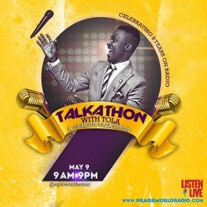 TOLA @Spiceonthemic To Celebrate 9 Years on Radio With 12 Hour Talkathon