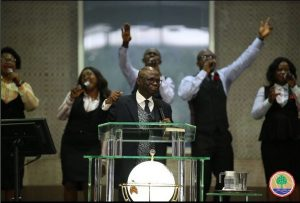 Minister Of State Petroleum Resources Worships At Tunde Bakare's Church (Photos)