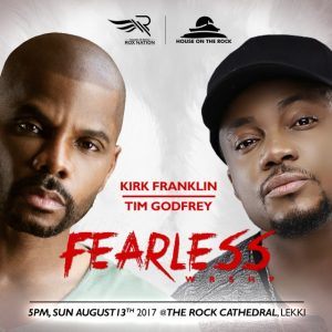 Kirk Franklin, Tim Godfrey Headline Fearless Concert At The Rock Cathedral This Sunday
