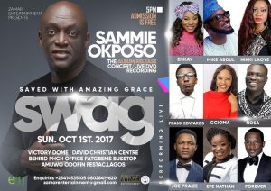 Sammie Okposo Album Launch and Live Recording Slated For Oct 1st [@sammieokposo]