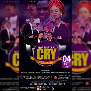 Joyfulsounds Announces Worshipers' Cry 2.0 #WC17 & New Single Release Date