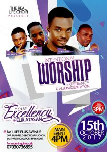 """The Real Life Choir Presents """"Intentional Worship Experience"""""""
