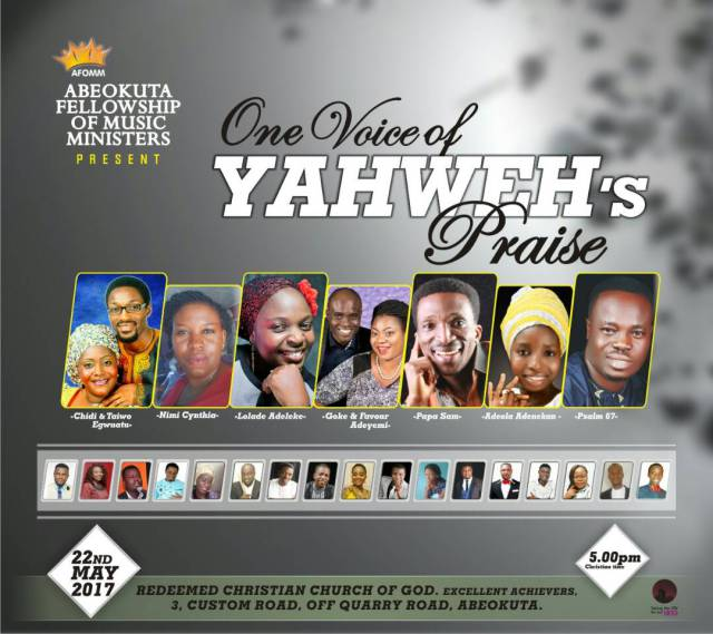 Abeokuta Fellowship Of Music Ministers Presents One Voice Of Yahweh's Praise