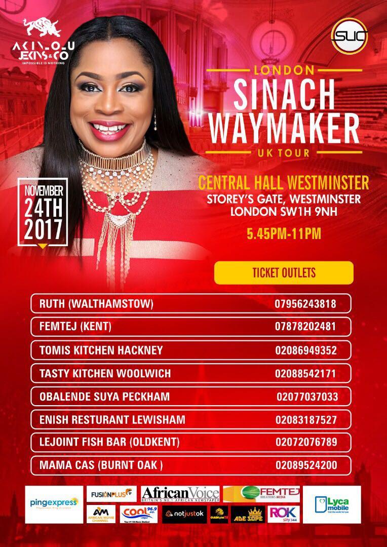 Sinach Uk Tour