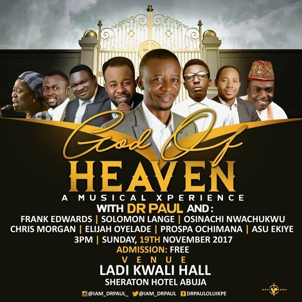 God Of Heaven Concert
