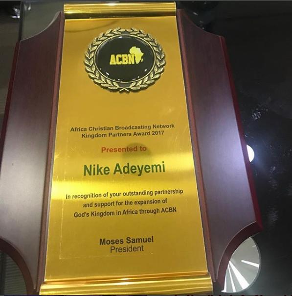 Nike Adeyemi Received ACBN 2017 Award