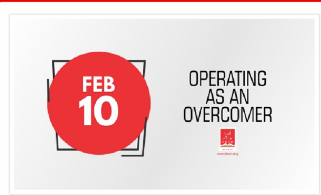 Operating As An Overcomer