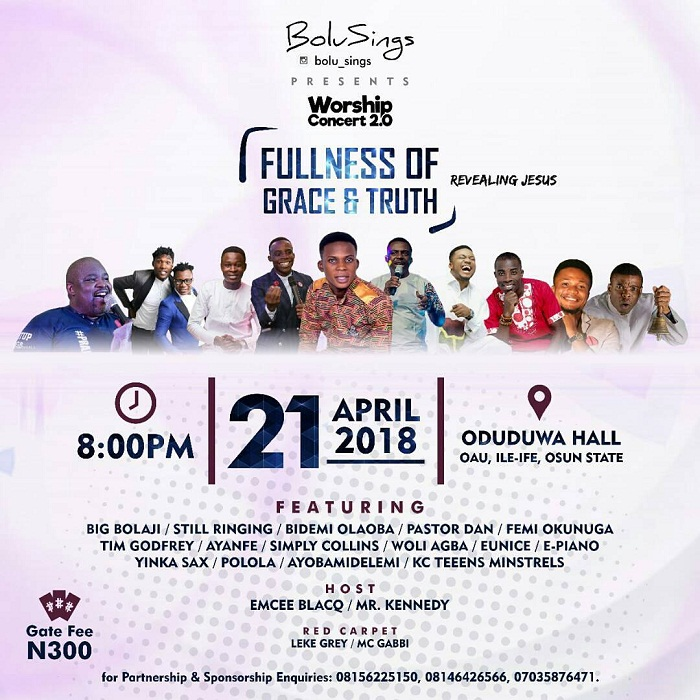 Bolu Sings Presents Worship Concert 2.0