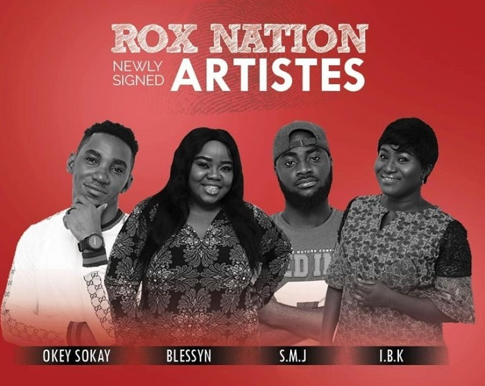 ROX Nation Signed 4 Artistes Okey Sokay, Blessyn, S.M.J and IBK