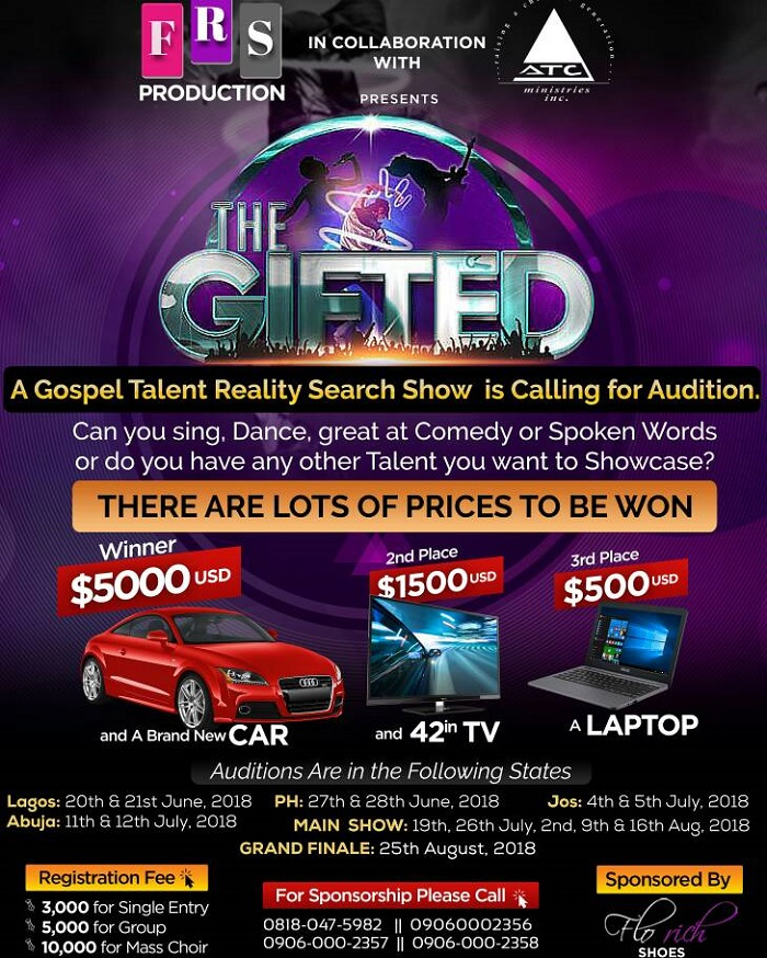THE GIFTED SHOW. A Gospel Talent Reality Search Show
