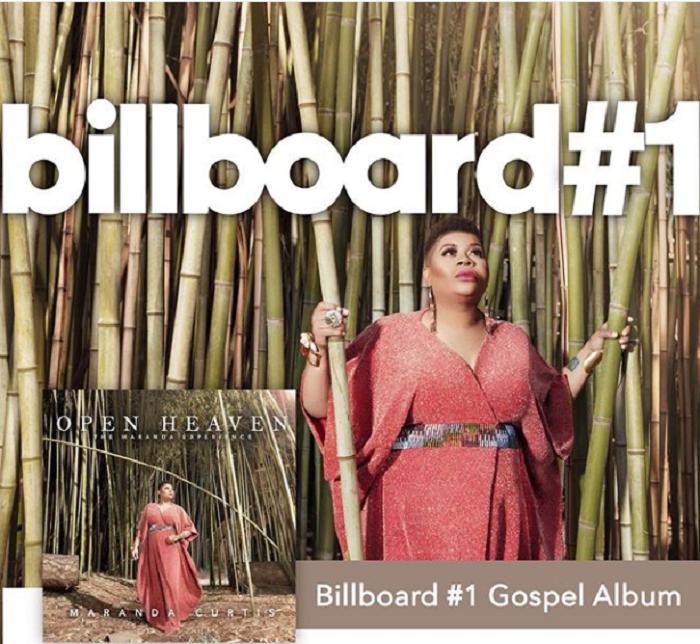 "Maranda Curtis ""Open Heaven"" hit Billboard #1 Gospel Album"