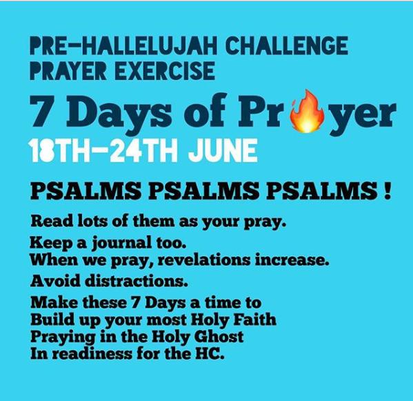 Pre-Hallelujah Challenge