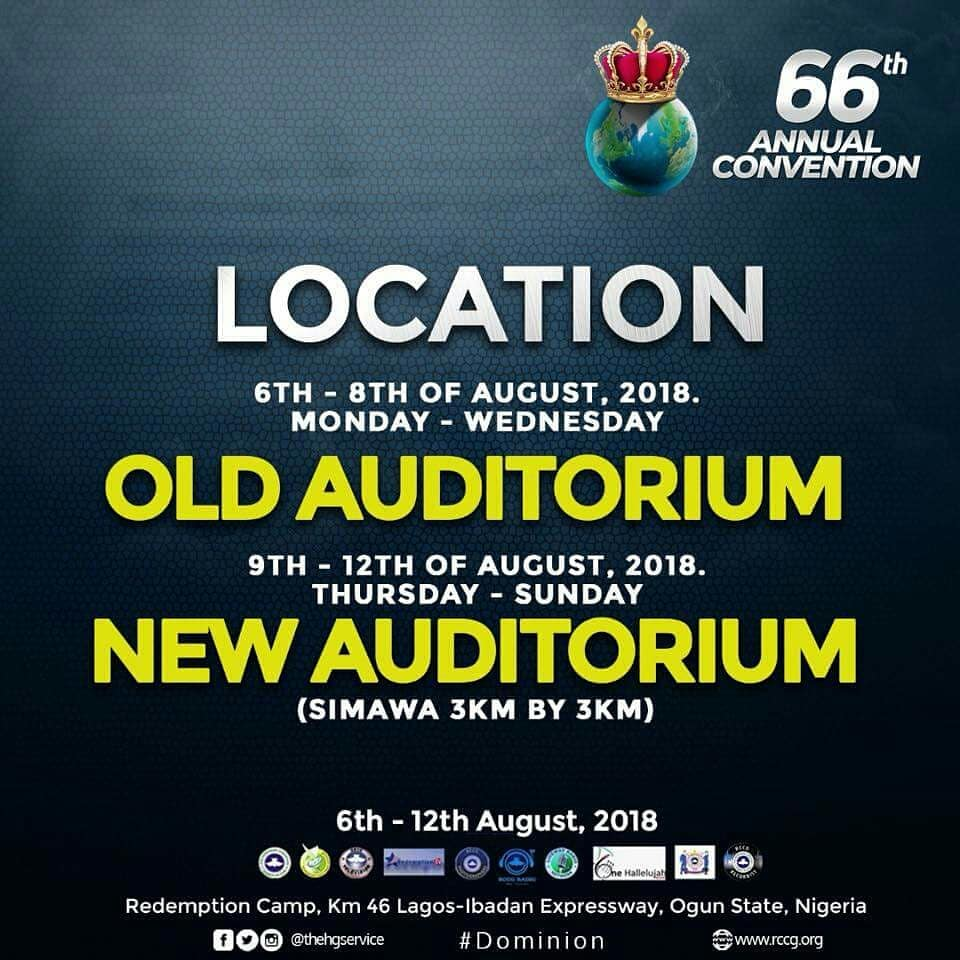 RCCG 2018 Convention Theme Picture