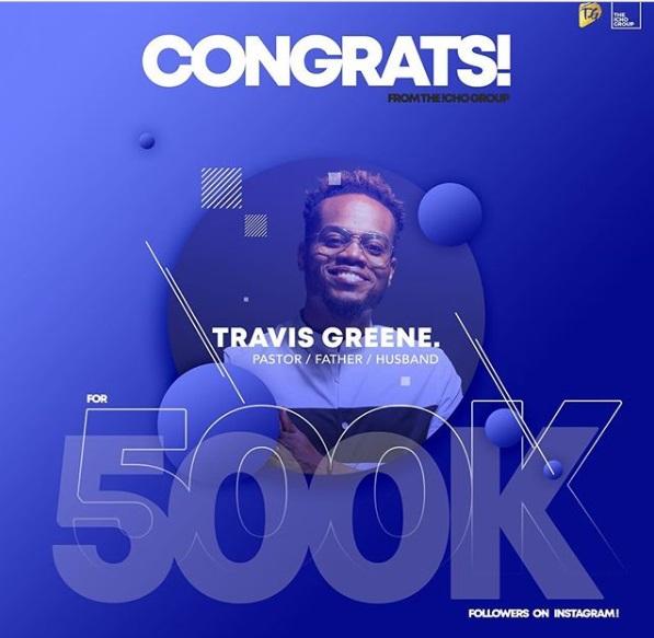 Travis Greene Hits 500K Followers on Instagram