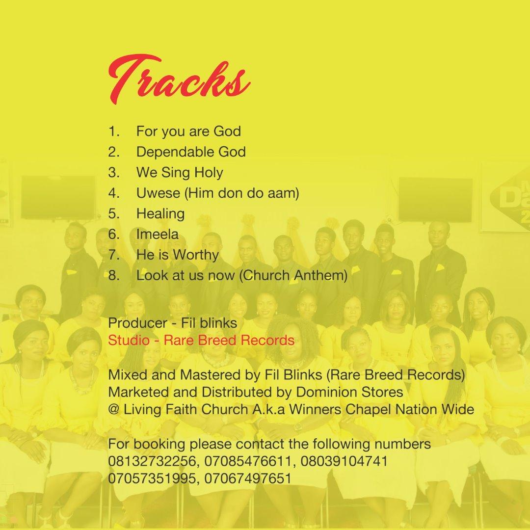 LFC Choir Dawaki 'New Dawn' Debut Album TrackListing