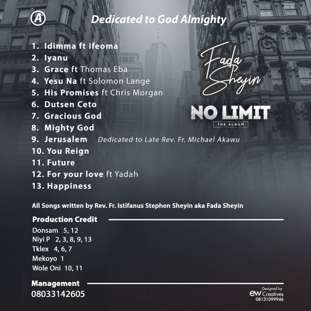 Fada Sheyin's Double CD Sophomore Album No Limit Now Available Online