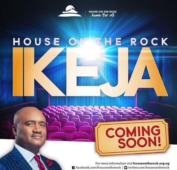 House On The Rock Church set To Open Ikeja, Lagos Branch.