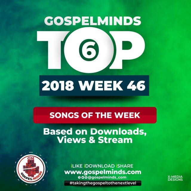 Top 6 Gospel Songs Of The Week 46 (12th – 18th November 2018)