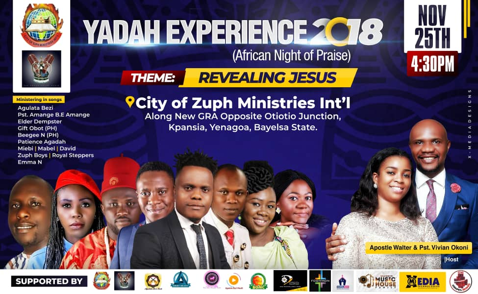 Yadah Experience 2018 (African Night Of Praise) Theme Revealing Jesus