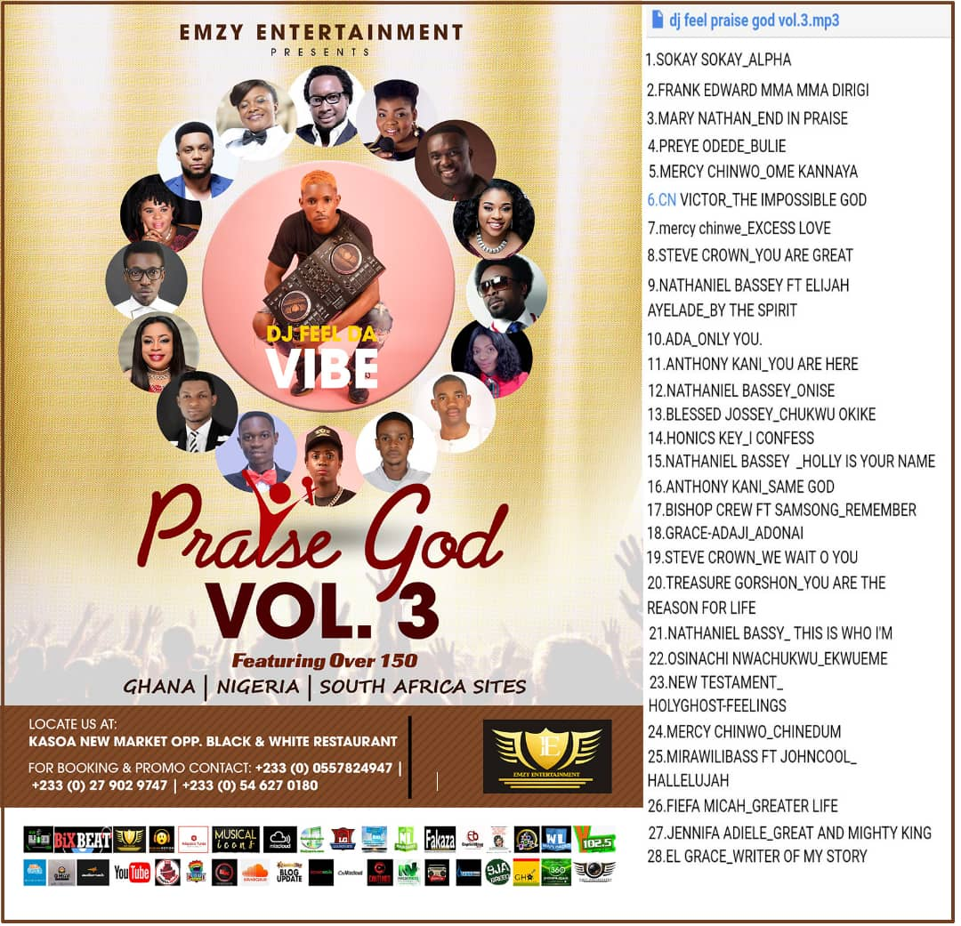 DJ Feel Da Vibe - Praise God Vol. 3 Gospel Mixtape
