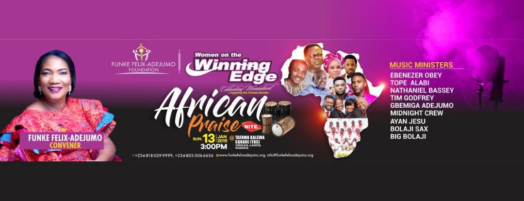 Funke Felix-Adejumo (Rev.) set for Winning Edge Conference 2019