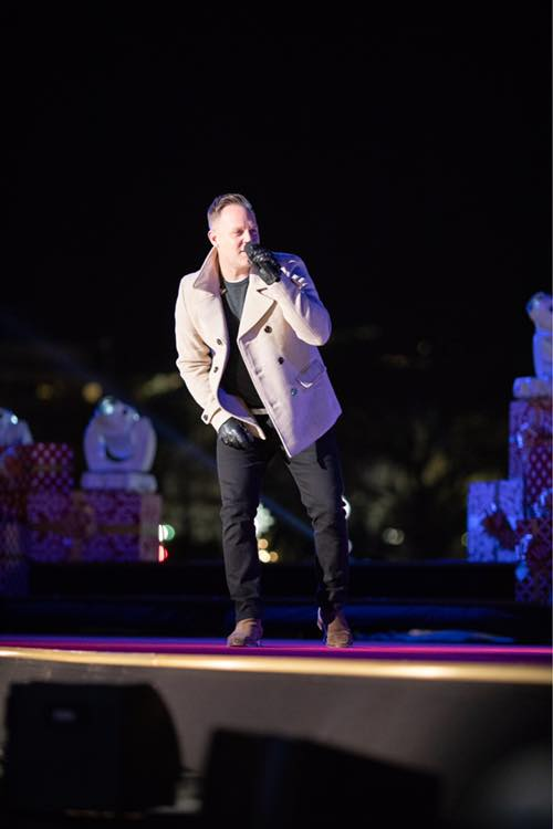 Matthew West Perform At The National Christmas Tree Lighting