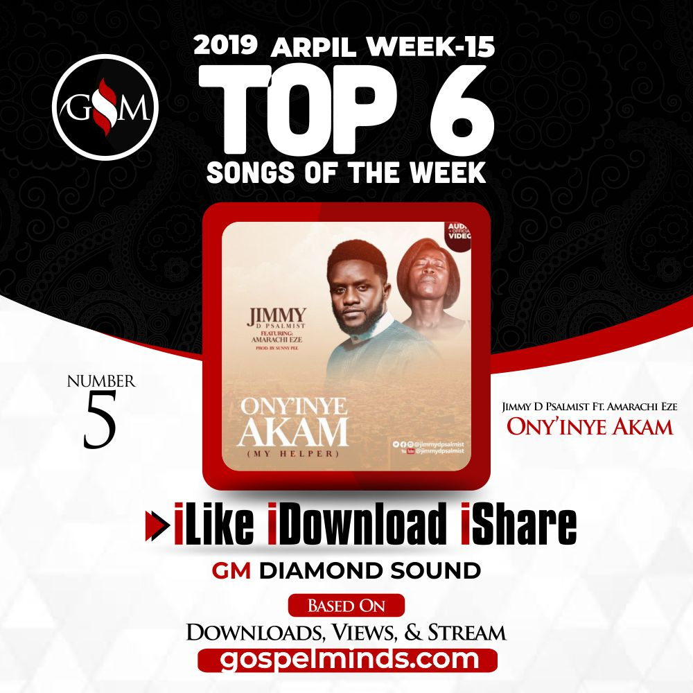 Jimmy D Psalmist – Ony'inye Akam Ft. Amarachi Eze (Top 6 Gospel Songs of The Week 15 April 2019)