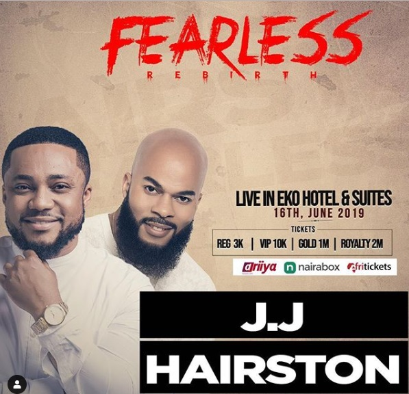 Fearless 2019 Concert. Tim Godfrey Ft. JJ Hairston