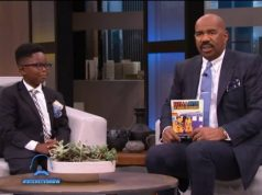 Steve Harvey & 8-year-old Ghanaian author Nicholas Buamah