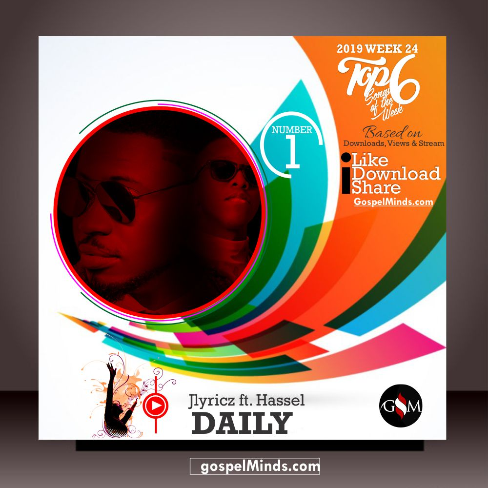 Top 6 Latest Gospel Songs of The Week 2019 WK-24 (Jlyricz – Daily Ft. Hassel)