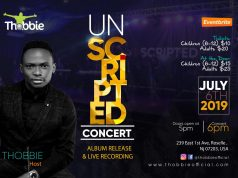 """THOBBIE Live Concert 2019 New Jersey """"UNSCRIPTED"""""""
