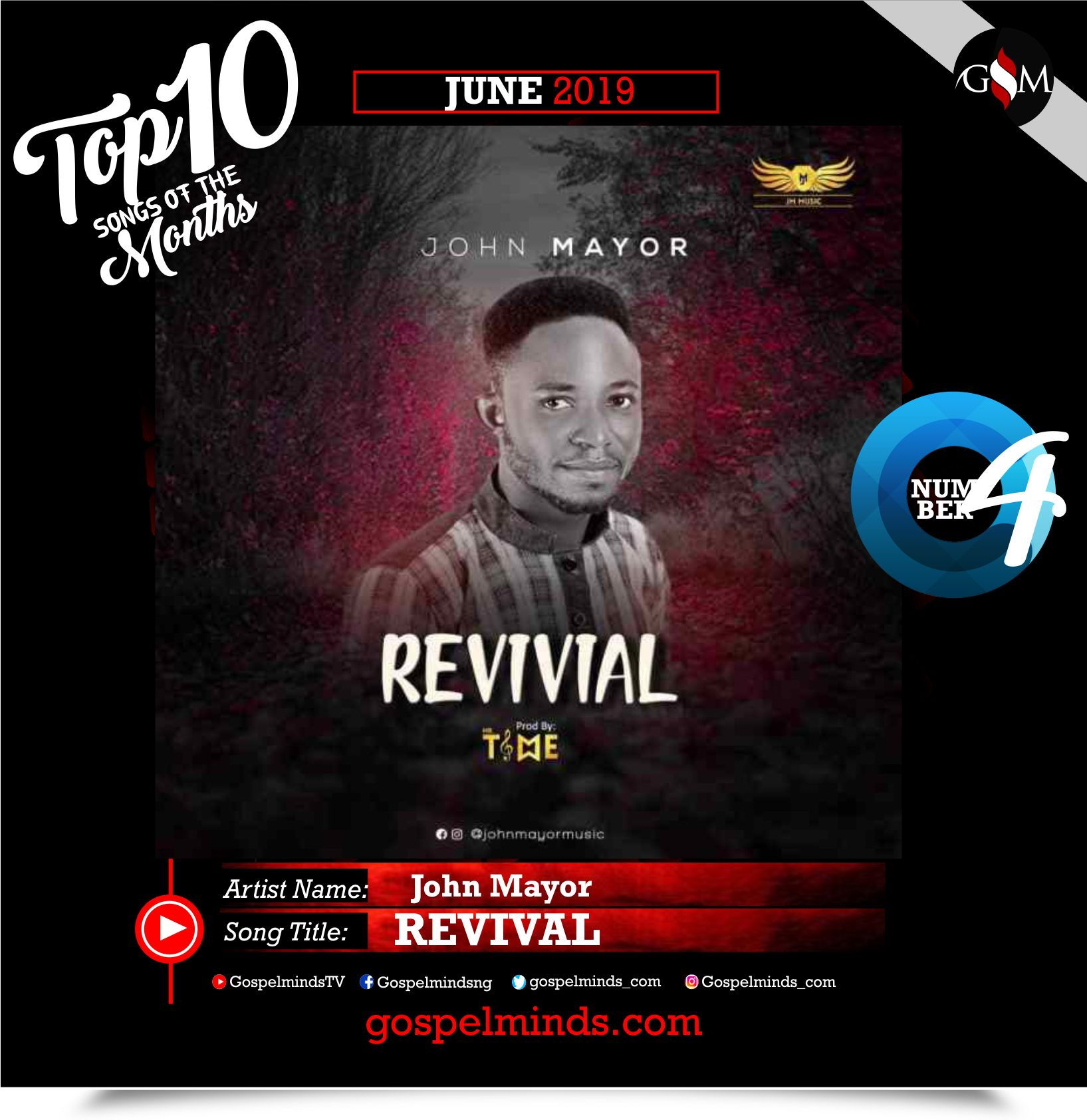Top 10 Gospel Songs of The Month - June 2019 GospelMinds Ent. (John Mayor - Revival)