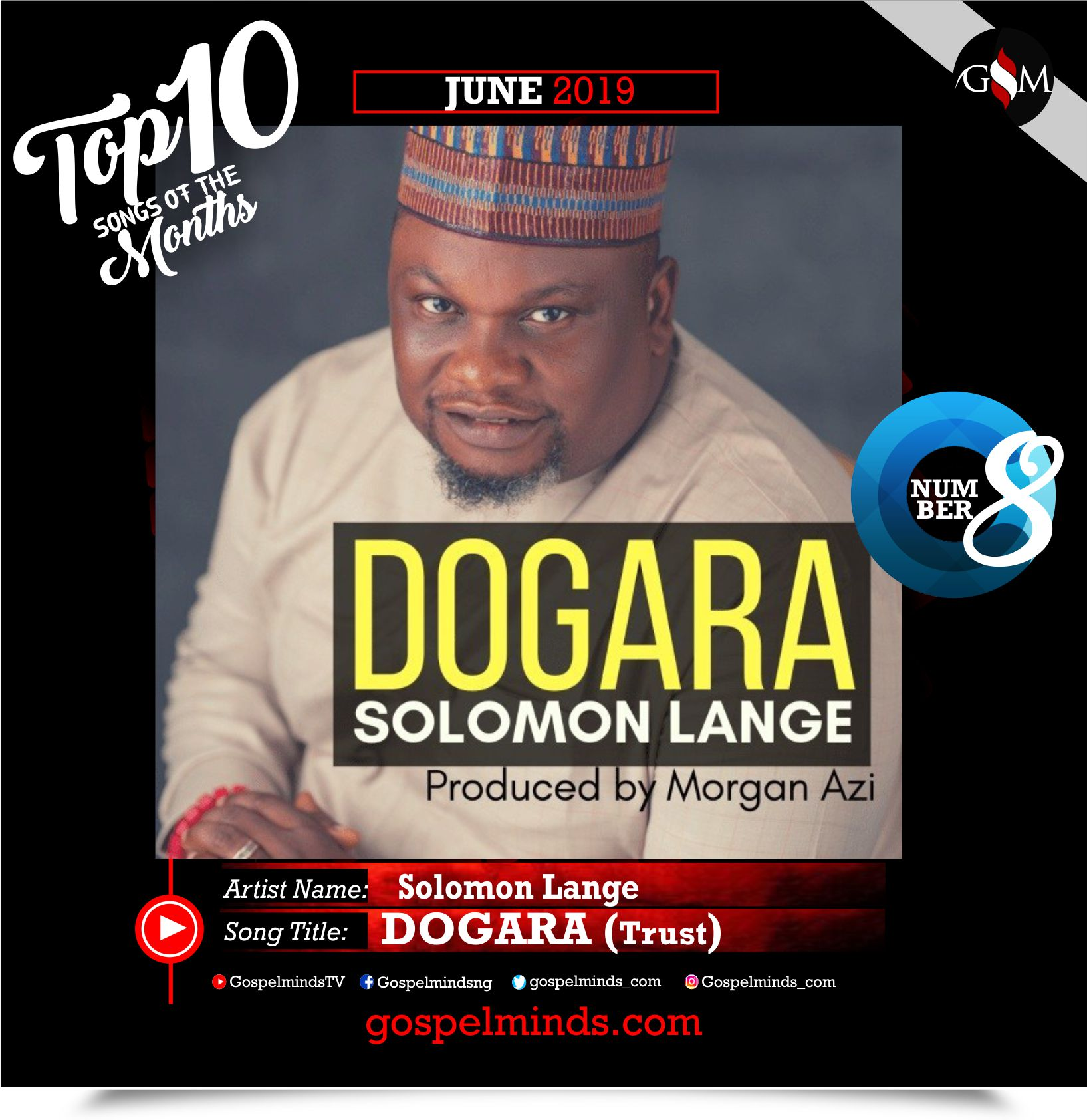 Top 10 Gospel Songs of The Month - June 2019 GospelMinds Ent. (Solomon Lange – Dogara)