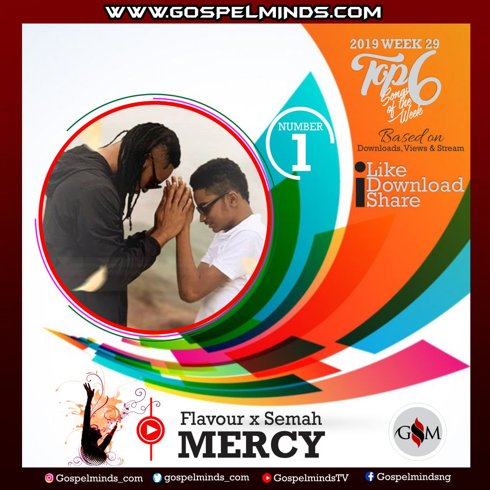 Top 6 Latest Nigerian Gospel Songs of The Week – 2019 WK-29 (Flavour and Semah – Mercy)