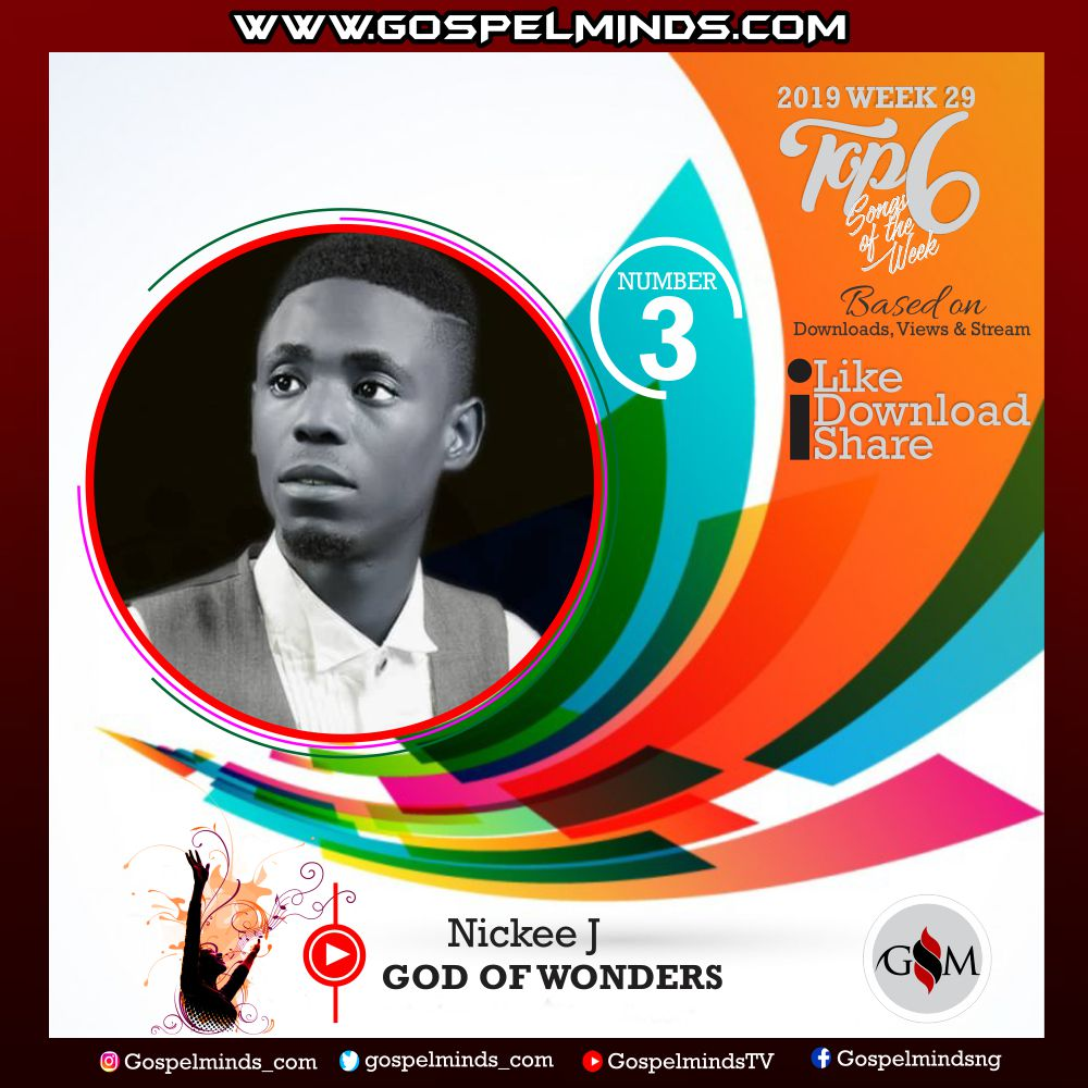 Top 6 Latest Nigerian Gospel Songs of The Week – 2019 WK-29 (Nickee J – God of Wonders)