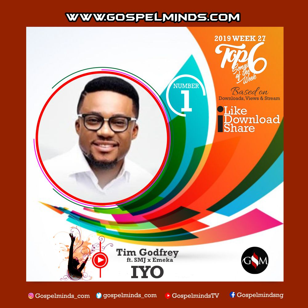 Top 6 Latest Nigerian Gospel Songs of The Week 2019 WK-27 (Tim Godfrey – Iyo Ft. SMJ and Emeka)