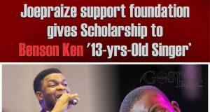 Joe Praize support foundation gives Scholarship to Benson Ken