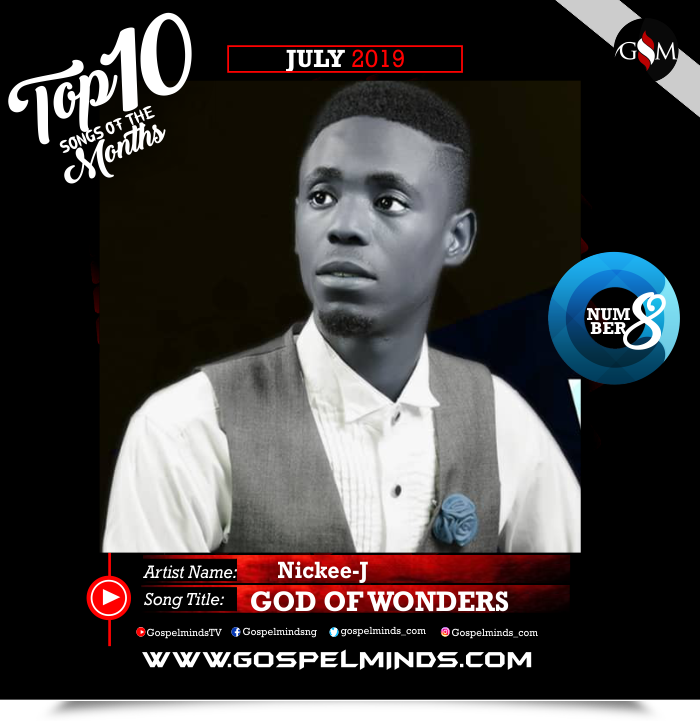 Top 10 Gospel Songs of The Month - June 2019 GospelMinds Ent. (Nickee J – God of Wonders)