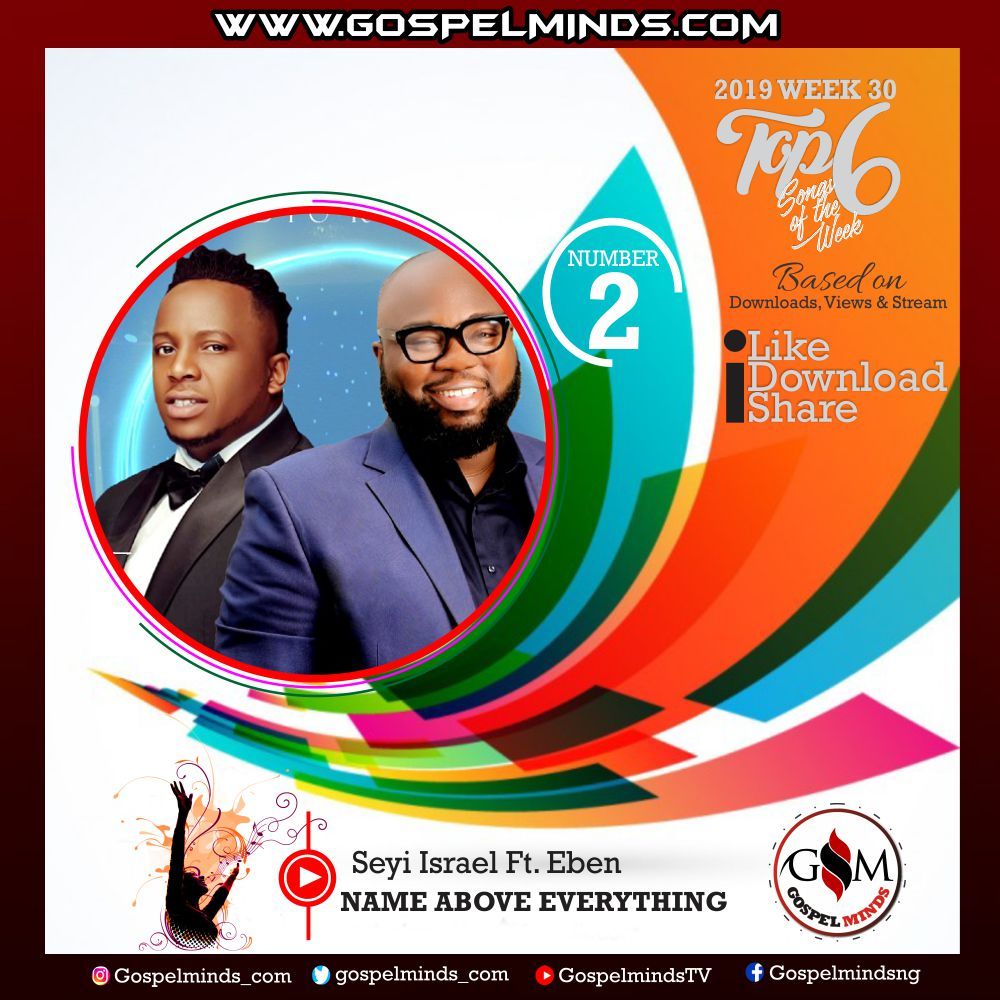 Top 6 Latest Nigerian Gospel Songs of The Week – 2019 WK 30 (Seyi Israel Ft. Eben – Name Above Everything)