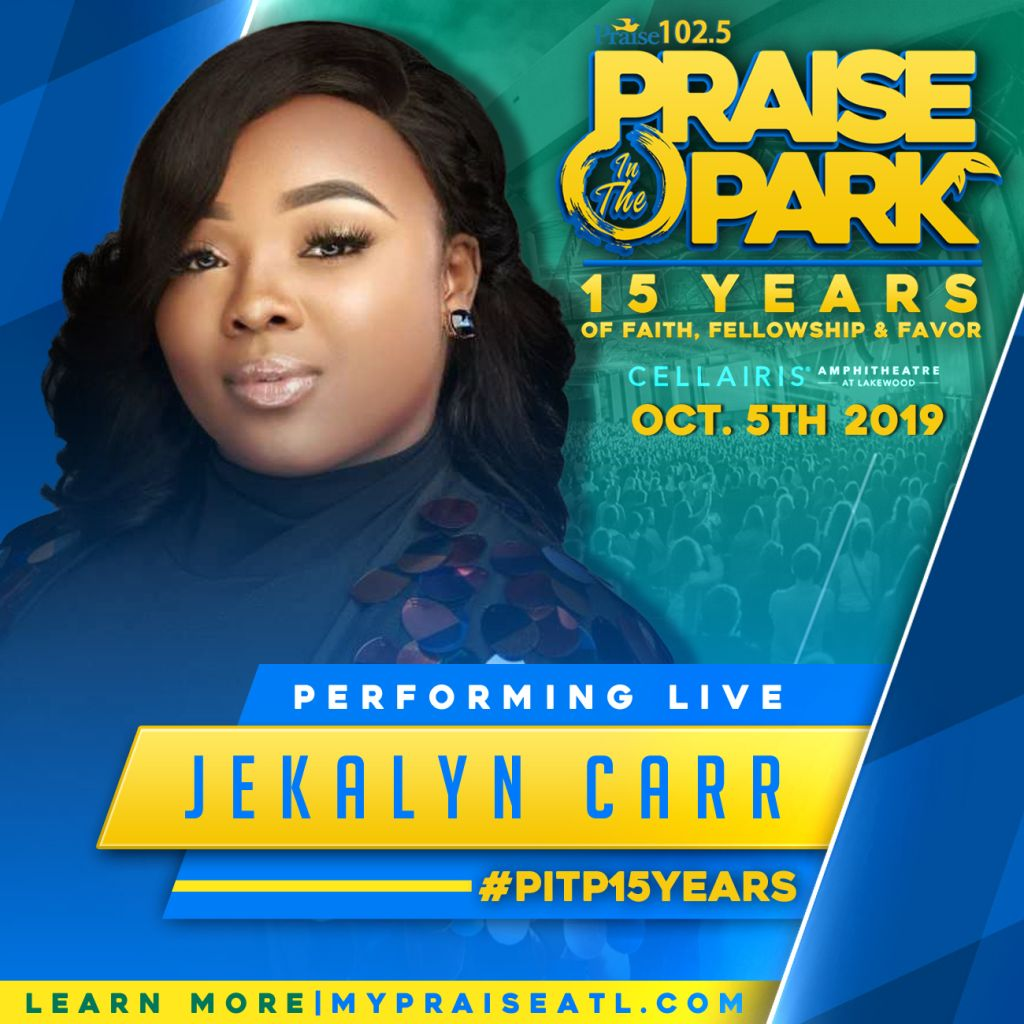 Jekalyn Carr Live at Praise In The Park 2019