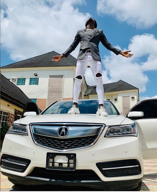 Comedian Akpororo new car