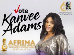 Kanvee Adams Nominated for Afrima Awards