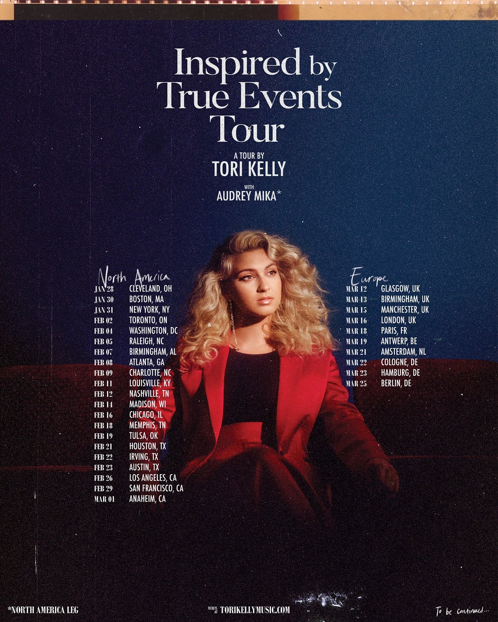 Tori Kelly 2020 Inspired By True Events Tour