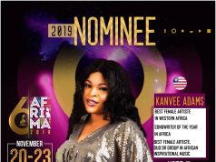 Vote Kanvee Adams, Songwriter Of The Year In Africa