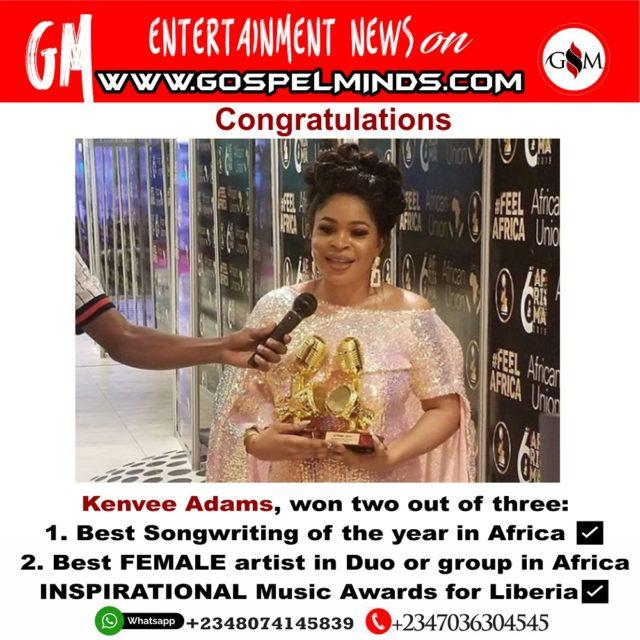 Kanvee Adams wins big at the 6th edition AFRIMA 2019