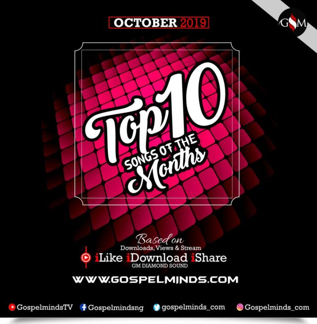 Top 10 Best Gospel Songs Of The Month - October 2019