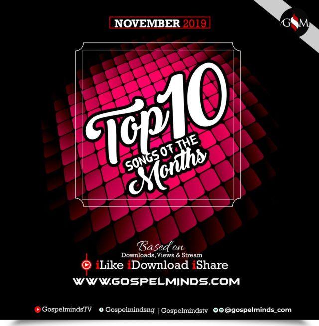 Top 10 November 2019 Gospel Songs Of The Month