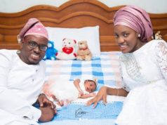 Damilola, son of Mike Bamiloye welcomes a new daughter with his wife