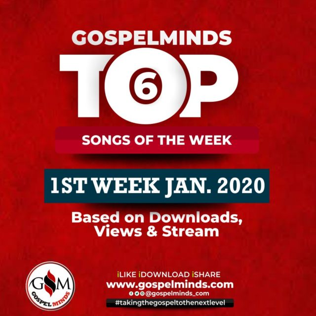 Top 6 Nigerian Gospel Songs 1st Week January 2020