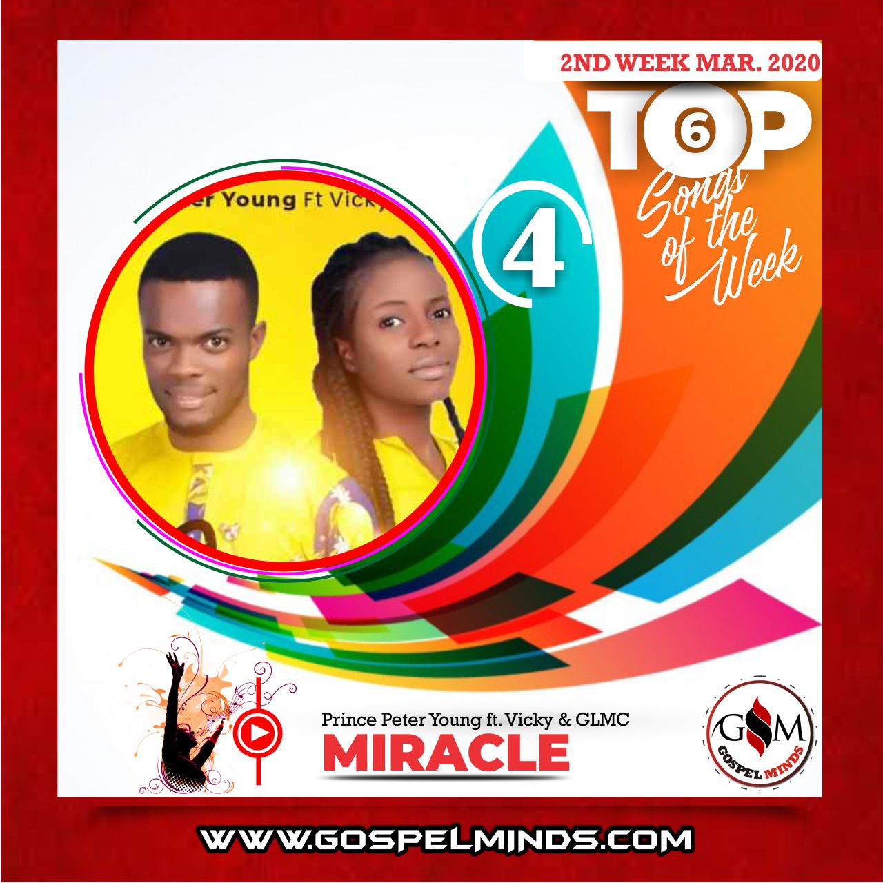 March 2nd Week 'Top 6 Gospel Songs Of The Week' Prince Peter Young - Miracle ft. Vicky & GLMC